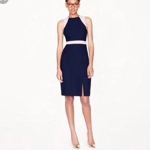 J.Crew Navy Crepe Gwen Sleeveless Dress 0